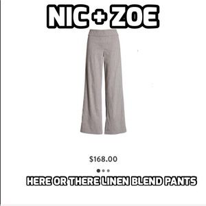 Nic + Zoé Here ir there linen Blend Pants Size 10